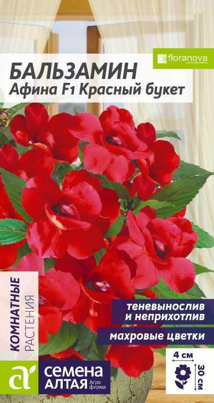 Цветы Бальзамин Афина Красный букет/Сем Алт/цп 5 шт.
