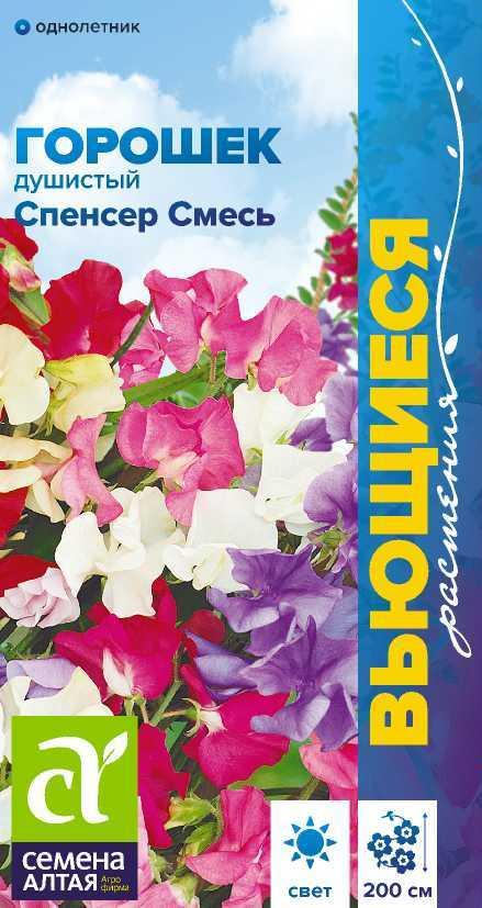 Цветы Душистый горошек Спенсер смесь/Сем Алт/цп 0,5 гр. Вьющиеся растения
