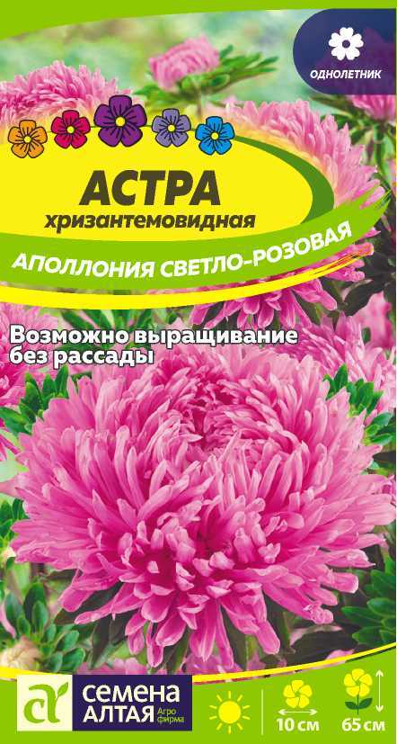 Астра Аполлония Светло-розовая/Сем Алт/цп 0,2 гр.