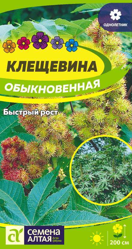 Цветы Клещевина Обыкновенная/Сем Алт/цп 3 шт.